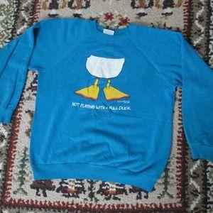 Vtg Sweatshirt Not Playing With A Full Duck Medium